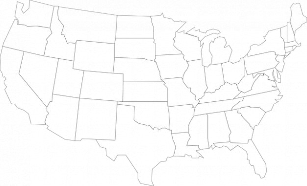 States Geography United America Usa Map Outline Free Po