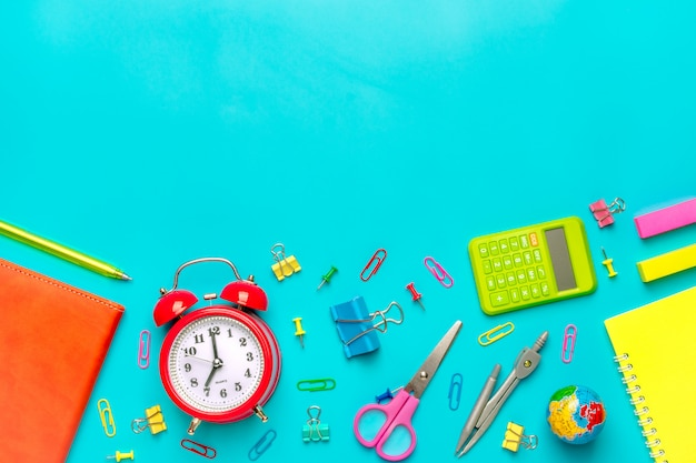Stationary, back to school,summer time Premium Photo