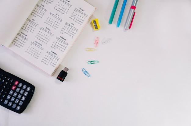 Stationery and calendar Premium Photo