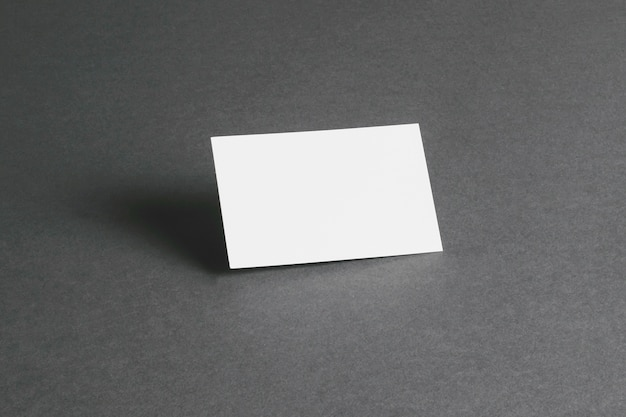Stationery concept with blank business card Premium Photo
