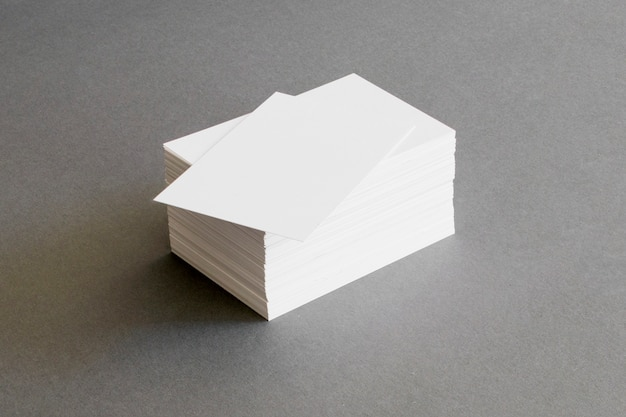 Stationery concept with business cards Free Photo