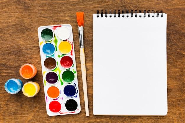 Stationery items creativity art studio Free Photo