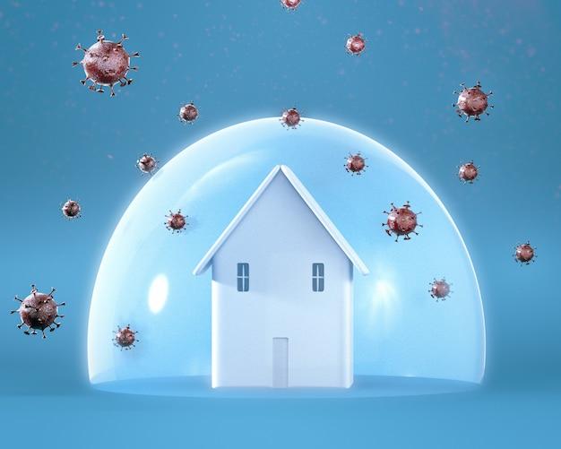집에서 코로나 바이러스 무료 사진