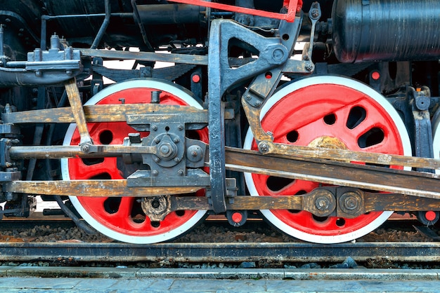 Steam train, wheels  Photo | Premium Download