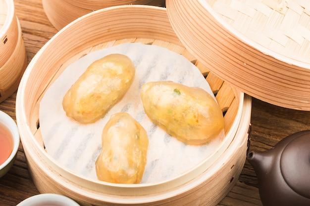 中国の蒸し餃子 無料写真