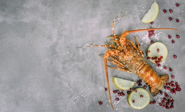 Steamed lobster seafood Premium Photo