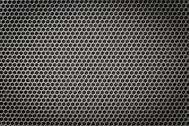 Steel grating black with hexagonal holes Premium Photo