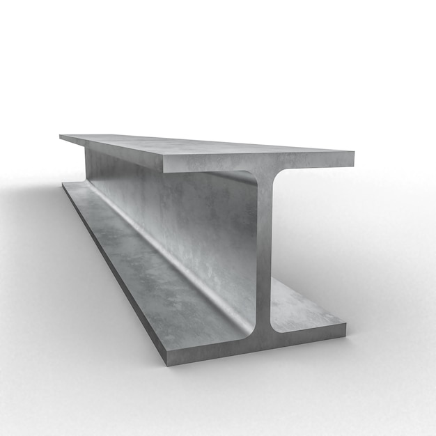 Steel metal beam 3d | Premium Photo