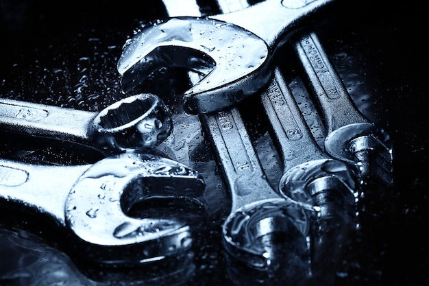 Steel wrenches tools Free Photo