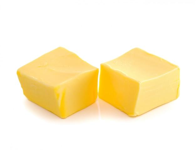 分離されたバターの棒 Premium写真