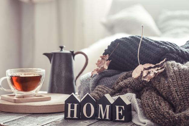 Натюрморт с осенним настроением в домашней атмосфере. Бесплатные Фотографии