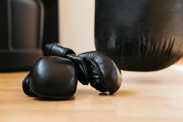 Still life of boxing equipment Free Photo
