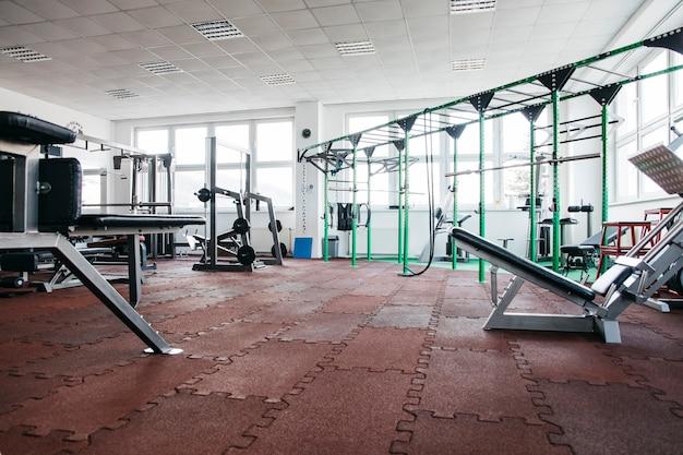 Still life of gym equipment Free Photo