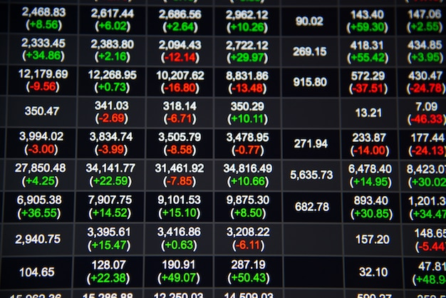 Stock or forex chart and data market exchange Photo
