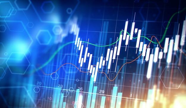 Stock graphic chart Premium Photo