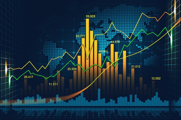 Premium Photo | Stock market or forex trading graph in graphic concept