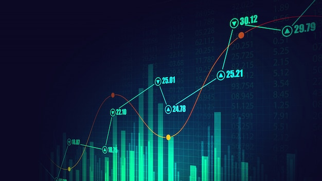 Stock market or forex trading graph in graphic concept Premium Photo