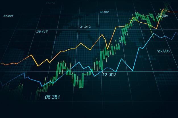 Stock market or forex trading graph in graphic concept Photo | Premium Download