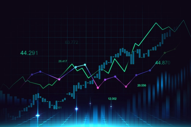 Stock market or forex trading graph | Premium Photo