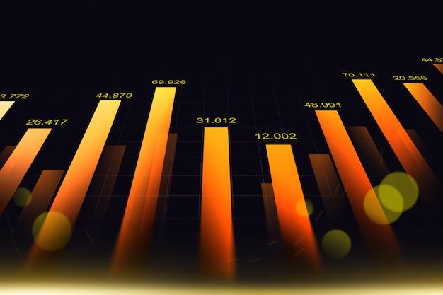 Stock market or forex trading graph Premium Photo
