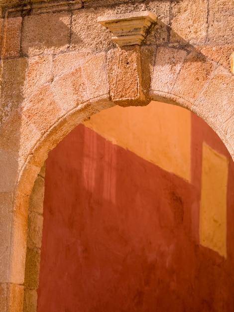 Stone archway in rhodes greece Premium Photo