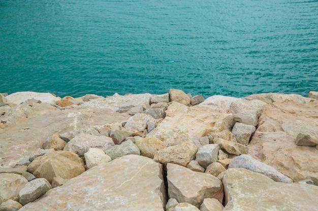 Stones at the blue sea Premium Photo