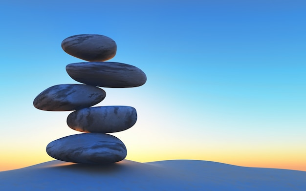 Stones in perfect balance Free Photo