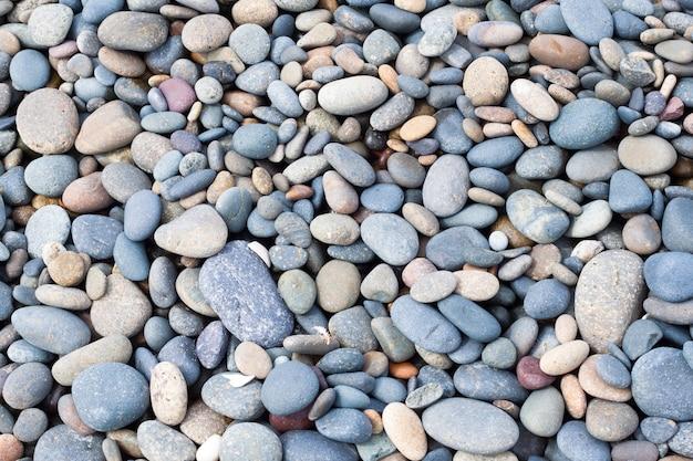 Stones texture on beach Free Photo