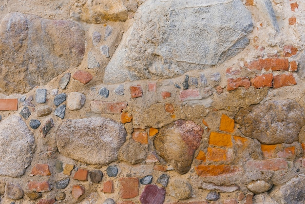 The stonework is old, the background of the stones Premium Photo