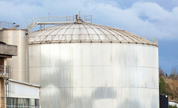Storage tank of a distillery. Premium Photo