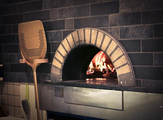 Stove with fire Premium Photo