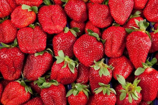 Strawberries in box Premium Photo