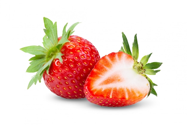 Strawberries close up. Premium Photo