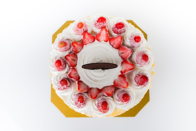 Ice Cake Images Free Download : Strawberry ice-cream cake Photo Free Download
