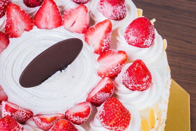 Strawberry ice-cream cake Photo Free Download
