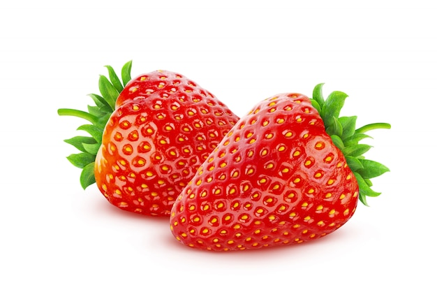 Strawberry isolated on white  with clipping path Premium Photo