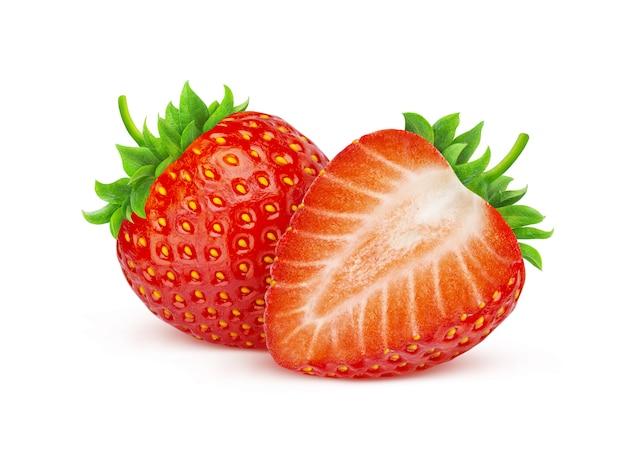 Strawberry isolated Premium Photo