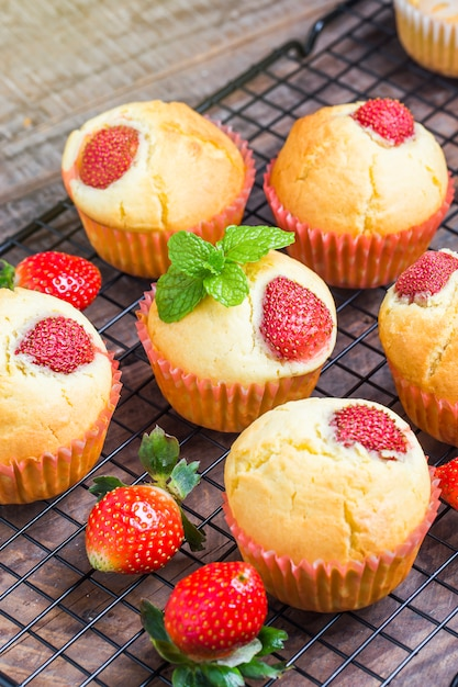 Strawberry Muffin Free Photo