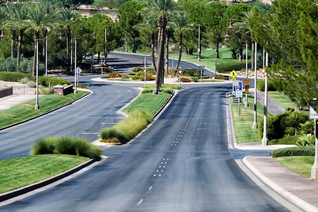 Streetscape of town in nevada, usa Free Photo