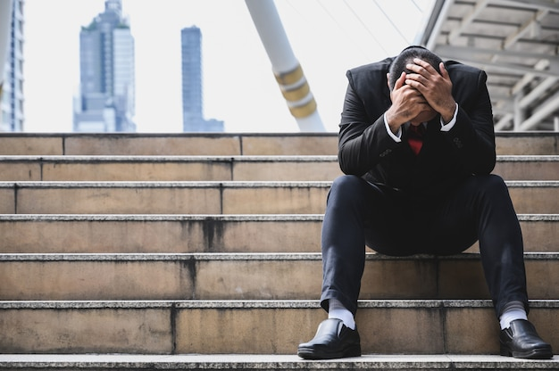 Stressed businessman Premium Photo