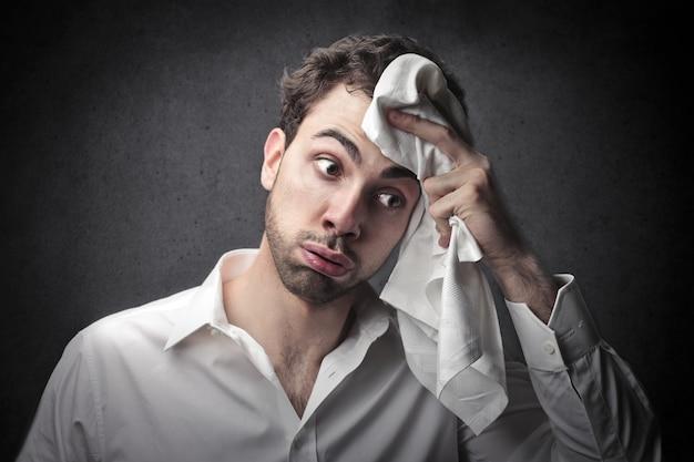 Stressed tired man Premium Photo