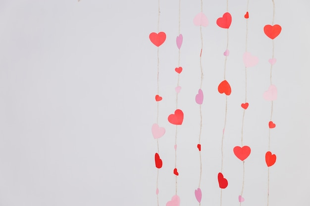 Strings composed of hearts Free Photo