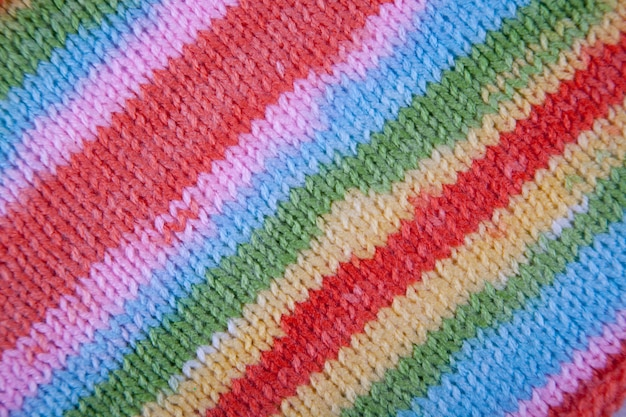 Striped fabric knit cloth texture. abstract close up line pattern background Premium Photo