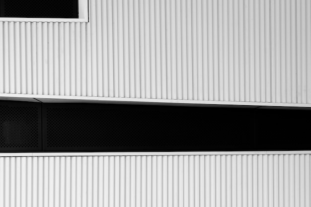 Striped facade of a modern building Free Photo