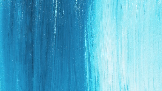 明るい青いペンキのストロークの背景 無料写真