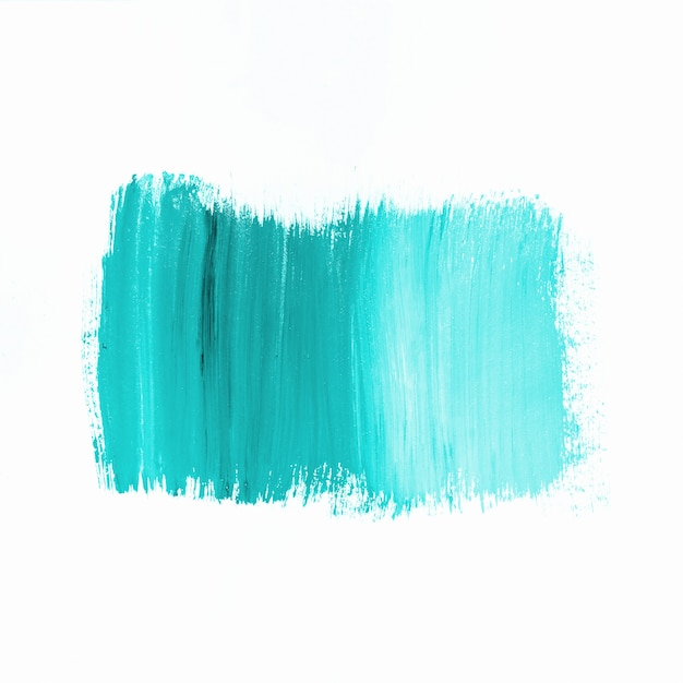 Stroke of bright turquoise paint Free Photo