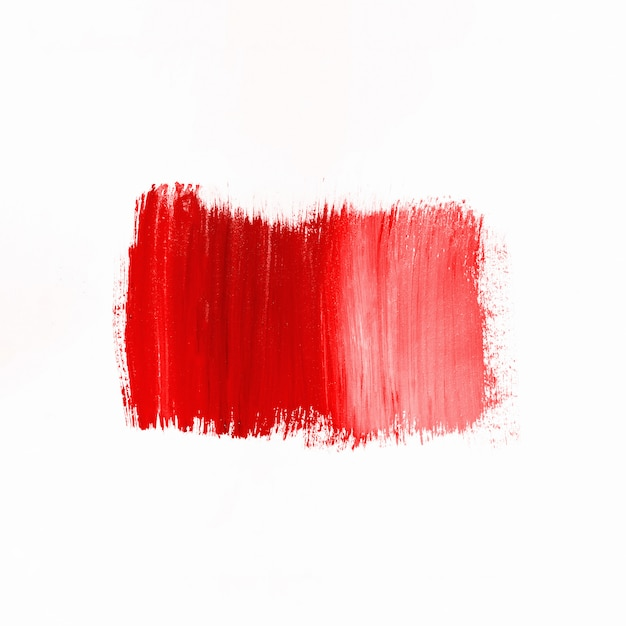Stroke of red paint Free Photo
