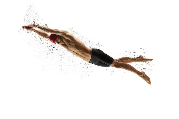 Forte formazione nuotatore professionista Foto Gratuite