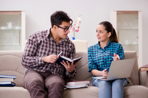 Students preparing for university exams Premium Photo