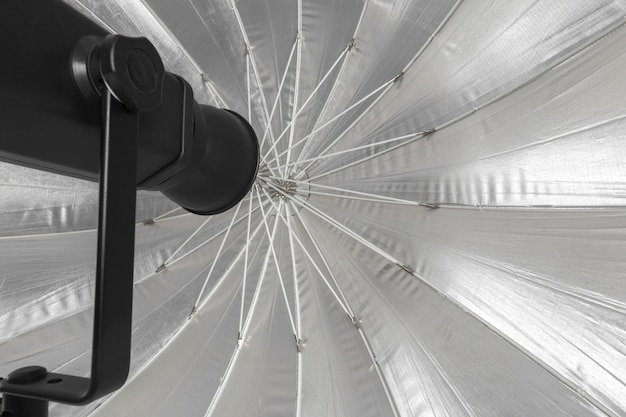 Studio lighting isolated on white Premium Photo